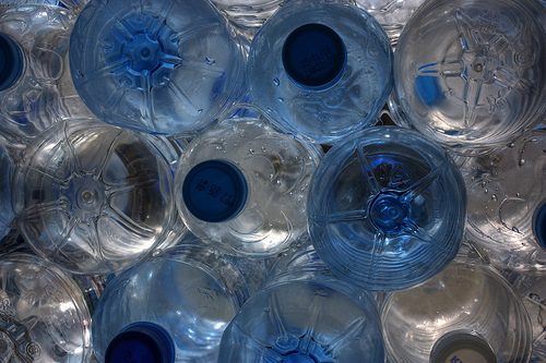 Bottled water stash