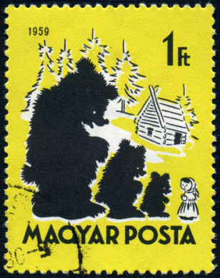 Three bears stamp