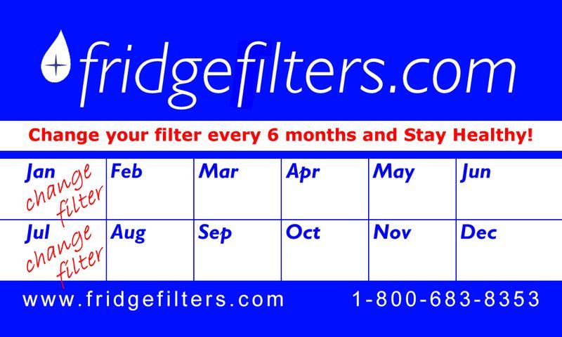 Fridgefilters calendar magnet