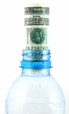 Bottled water money